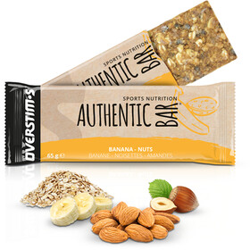 OVERSTIM.s Authentic Caja Barritas Energéticas 6x65g, Banana Almond